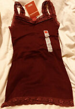 3 Tops Girls 6/6x Gray, Blue, Burgundy, Lace Shoulder Straps & Bottom Mossimo