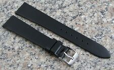 18mm BLACK STYLECRAFT Retro Watch Band Genuine Calf NOS Strap Made in CANADA 151