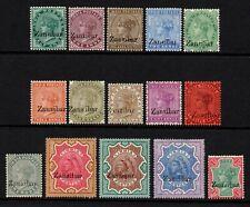 Zanzibar 1895-96 Queen Victoria set to 5r., MH (SG3/21)