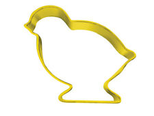 Yellow Easter Chick Cookie Cutter - Chick Pastry & Biscuit Cutter 7.5cm Metal