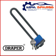 DRAPER 62952 U BAR EXTRA LONG SHACKLE LOCK PADLOCK WITH 2 KEYS - BIKE SECURITY