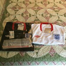 Lot of 2 England National soccer Training jerseys,home and away NWT,XL,Umbro