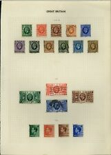 GB KGV-KEVIII Album Page Of Stamps #V15403