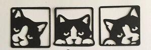 Cat silhouette Die Cuts - Cats,Animals , feline Pets Black Cats