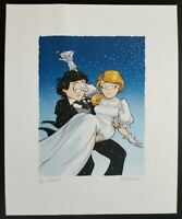 GARRY TRUDEAU ORIGINAL SIGNED LITHOGRAPH - HITCHED 69/225 - FLAWLESS CONDITION
