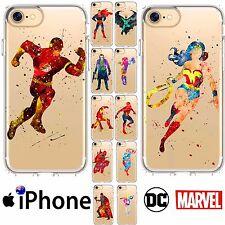 iPhone Silicone Case Cover TPU Superheros Marvel DC Comics Abstract FreshPrintAU