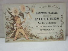 Gardner Blandin Dealer in Pictures etc Providence, Rhode Island Trade Card