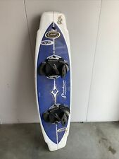 Vintage Wake Tech Eric Perez Wakeboard With Large Bindings One Fin 142.5cm