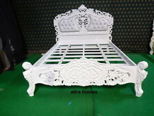 BESPOKE  King Size Baroque carved mahogany designer French Rococo bed