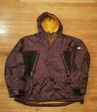 Vintage Tommy Hilfiger Outdoors Parka Coat Large Purple Jacket Reflective Flag L