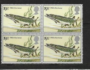 1983 GB.- BRITISH RIVER FISHES - BLOCK OF FOUR - MINT AND NEVER HINGED.