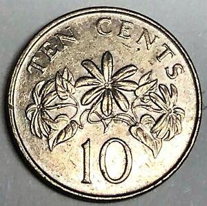 # C8060    SINGAPORE    COIN,    TEN  CENTS   1986