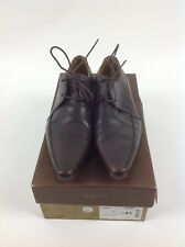 ***Mens Hudson Shoes - Dark Brown Leather - Size 41 Eu 7.5 Uk Worn 3 Times