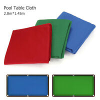 8/9 Ft Pool Table Cloth Accessories Snooker Indoor Sports Replacement 3 Colors