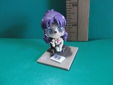 "#840 mai hime Anime 1.75""in Purple haired School Girl Holding Pencil"