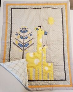 Little Love: Giraffe Time Yellow Comforter and Fitted Sheet by NoJo