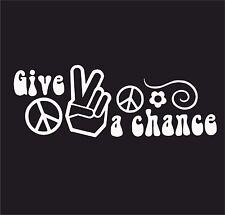 Donner la paix vw une chance vinyl decal sticker euro jdb dub vw T5 T4 T3 T2 jap