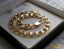 GENUINE 9ct GOLD CURB BRACELET GF THIS IS STUNNING!