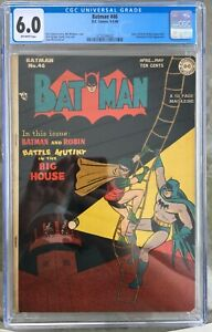 Batman #46 (1948) CGC 6.0 -- Joker and Leonardo Da Vinci appearances; Sprang