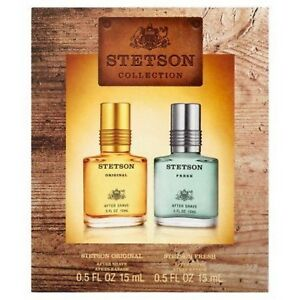 Stetson For Men Collection 2 Piece Set Original and Fresh After Shave Size .5 Oz