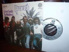 "Nazareth, Love Leads To Madness, Take The Rap, Vertigo 6000828, 1982, 7"""