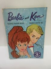 Vintage Barbie Ken 1962 Original Blue BOOKLET Fashion Catalog