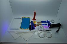 Samsung Galaxy S6 SM-G920F Blanco Cristal Frontal, Kit de Reparación de Pantalla, Loca Glue, Antorcha