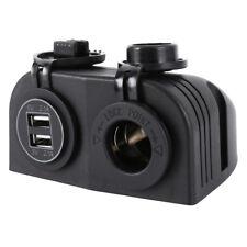 12v Car Cigarette Lighter Socket Splitter 4 USB Power Adapter Charger - Black