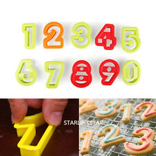 0-9 Number Biscuit Cookie Cutter Mold Cake Decorating Sugarcraft Chocolate Mold