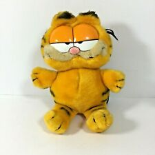 """Vintage Garfield Soft Plush Toy Cat 1980s 9"""" Collectable"""