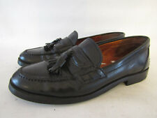 JONES BLACK LEATHER TRUE MOCCASIN PENNY LOAFERS SLIP ONS  UK 8 rrp£119 NEW SOLES