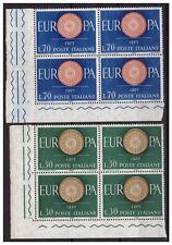 ITALIA 1960  -  EUROPA CEPT   SERIE  NUOVA QUARTINA  **
