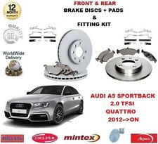 FOR AUDI A5 HATCH QUATTRO 2.0 TFSI 2012->on FRONT + REAR BRAKE DISCS & PADS SET