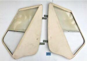 USED OEM 58 - 62 TRIUMPH TR3A - TR3B SIDE CURTAIN SET W/ VELCRO CARRY BAG  H981