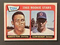 1965 Topps #549 Chicago Cubs Rookie Stars Pena / Beckert High Number VG-VGEX
