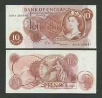 BANK OF ENGLAND  QEII  Fforde  10 sh  D01N  MINT  Uncirculated  Banknotes