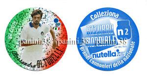 """RARE !! NUTELLA Sticker N2 ALESSANDRO ALTOBELLI """"AZZURRO MONDIALE 2002"""" PANINI"""