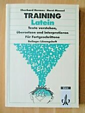 Lehrbuch Latein Vokabeln Texte Handlung Satzbau Fortgeschrittene  Lösungsheft
