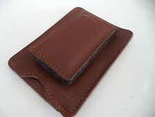 Geoffrey Allen Leather Magnetic Money Clip Wallet ,Brown