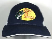 Bass Pro Shops Navy Blue Mesh Fishing Trucker Hat Cap Outdoors Hunting
