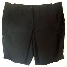 Ladies Womens Black Cotton Long Cargo Shorts Casual Beach Pants Now+plus Size 18