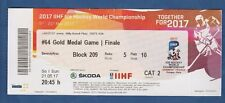 Orig.Ticket  Icehockey World Championship 2017  FINAL  CANADA - SWEDEN !! RARITY