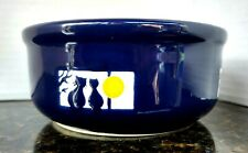 """Cat/Kitten Water/Food Royal Blue Cats in the Window 5"""" x 2.25"""" Round Bowl"""