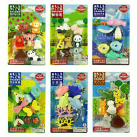 IWAKO Puzzle Collecting Toy Eraser Animals Set Made in Japan Different Set