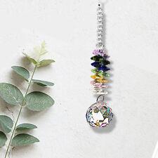 1x New Crystal Ball Suncatcher Rainbow Feng Shui Prisms Pendant Pendulum H CFE