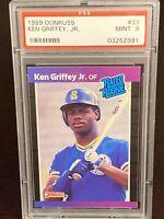 1989 Donruss Ken Griffey Jr. Rated Rookie RC #33 PSA 9 MINT Seattle Mariners HOF