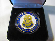 Dept of State Diplomatic Security Service (Gold fin) Challenge Coin w/ Gift Box