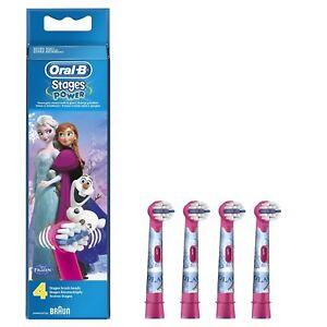 4 Oral B Stages Power Frozen Eiskönigin Kinder Aufsteckbürsten Bürsten Oralb