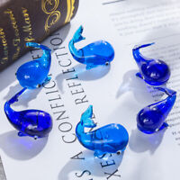 Hand Blown Art Glass Little Whale Paperweight Fish Sculptures Decor Gift 6pcs