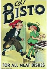 Ah! Bisto.For All Meat Dishes.Robert Opie. Nostalgia Postcard.End Of Stock!